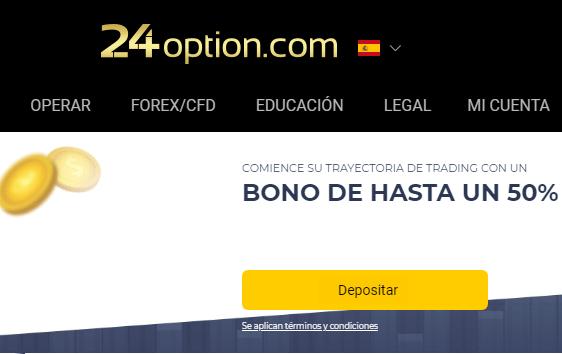 deposito minimo en 24option