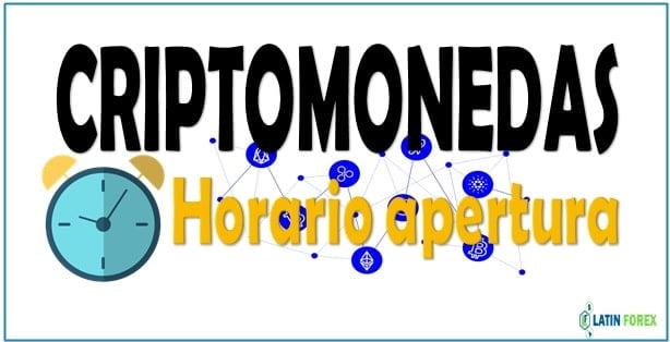 Horario del mercado de las criptomonedas