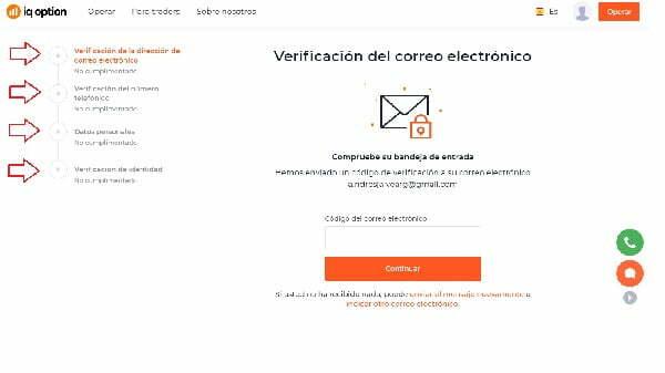 verificacion cuenta iq option mexico