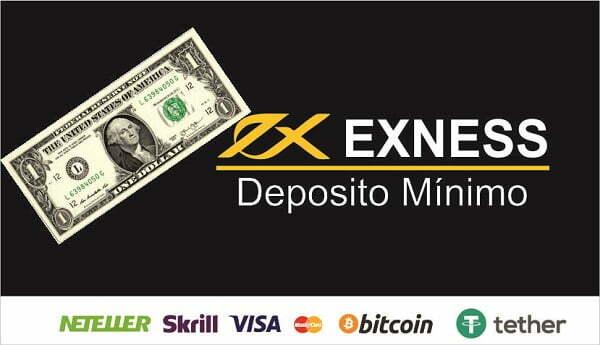 Exness deposito mínimo